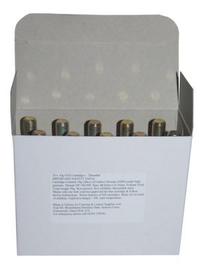 CO2 16g Cartridges - Threaded (Pack of 30) - 3 x Boxes of 10