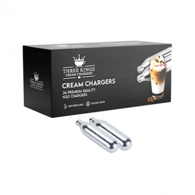 Cream Chargers - Three Kings - 2 x Boxes of 24 (48)