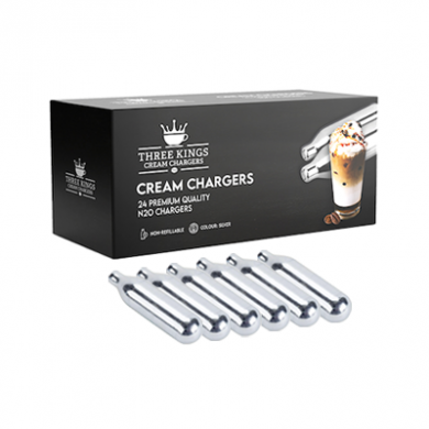 Cream Chargers - Three Kings - 6 x Boxes of 24 (144)